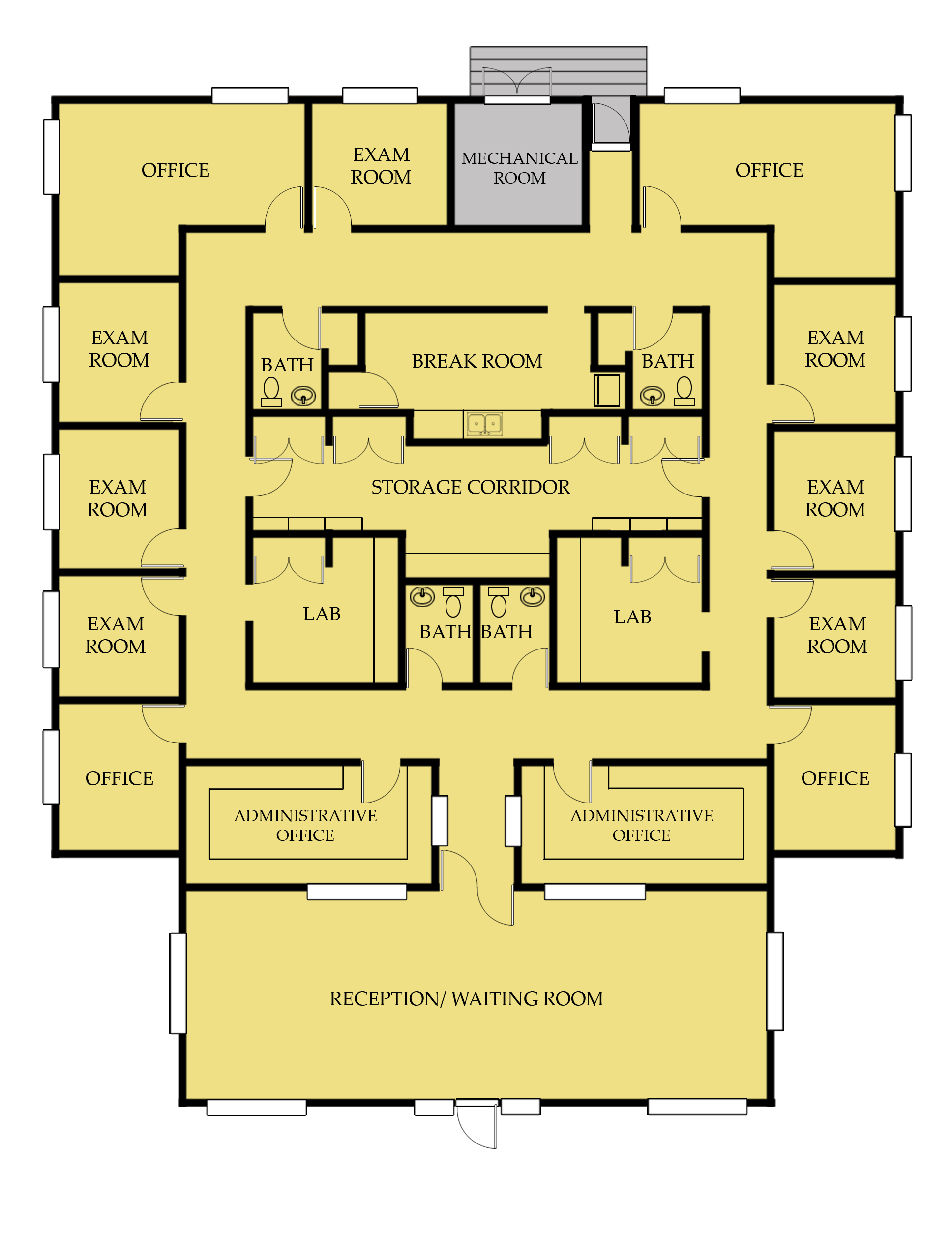 Medical office floor plan example search by for Office floor plan samples
